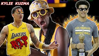 LAKERS FAN REACTS TO KYLIE KUZMA! ZO2 DISS TRACK ON KYLE KUZMA FOR NO REASON?!