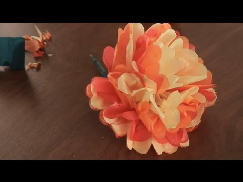 How to Make Paper Mexican Flowers : Paper Art Projects