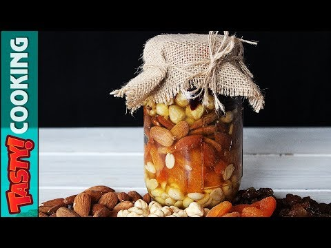 Mixed Nuts in Honey Recipe 🍯 Gift in a Jar Idea 🍯 Tasty Cooking