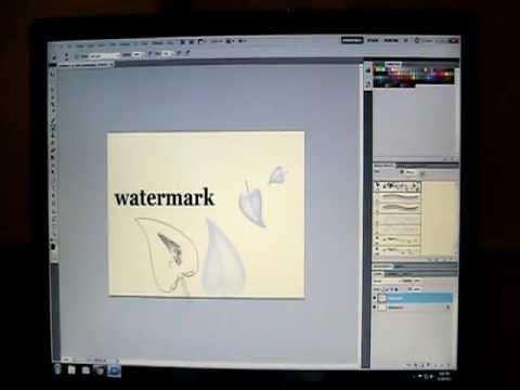 Photoshop CS5 How to make a basic watermark