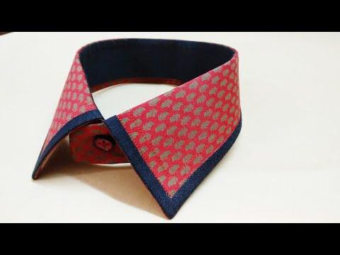 How to sew a shirt collar design