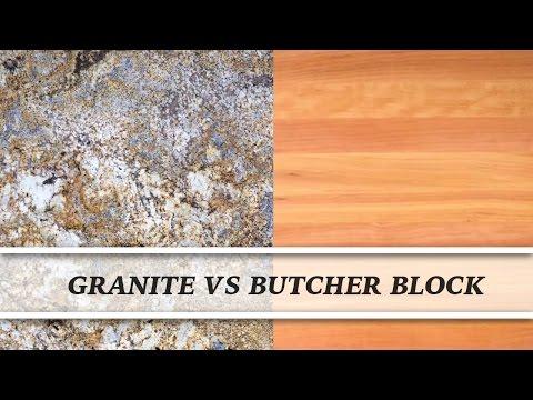 Granite vs Butcher Block | Countertop Comparison