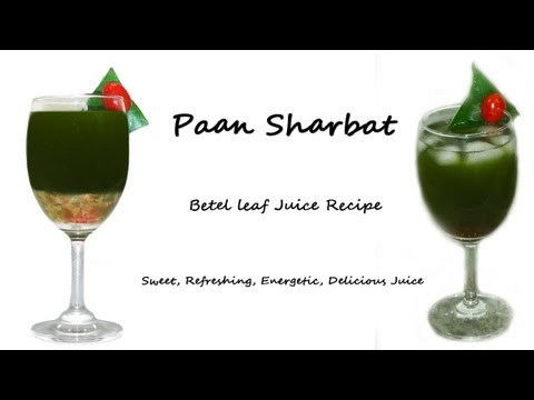 Paan Sharbat Recipe | Betel Leaf Juice
