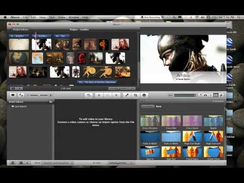 Adding Transitions in iMovie