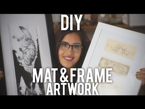How to Mat and Frame Artwork : DIY
