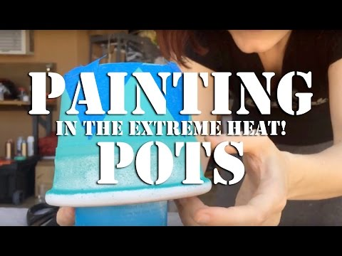 Painting Pots: Making the Airstream More Homey