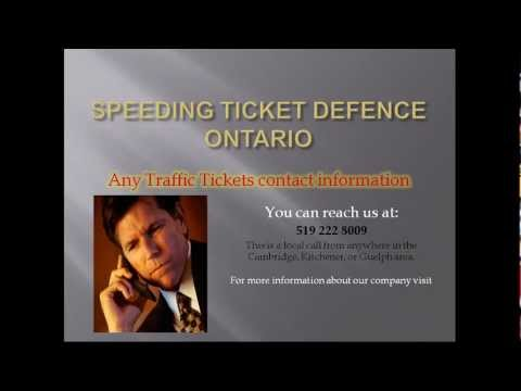 Speeding ticket defence - Ontario