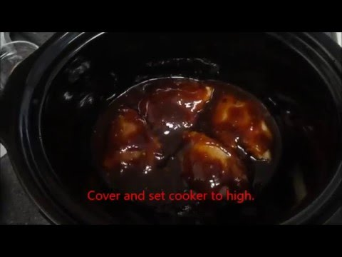 Slow Cooker Italian BBQ Chicken!