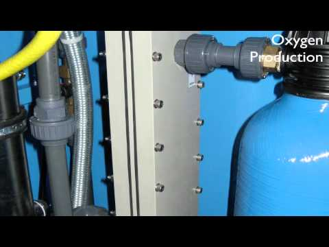 How does a water cleaning machine work?