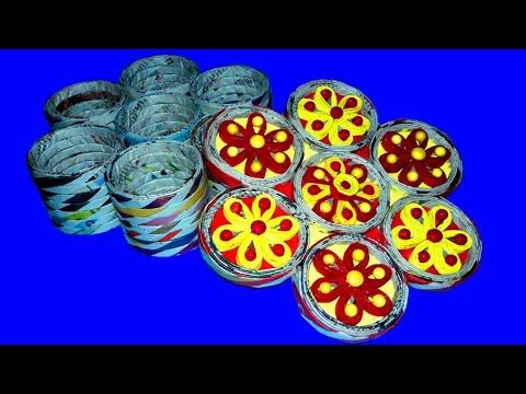 Make A Jewelry Box Using Newspaper & Cardboard◆DIY Multi Storage/Desk Organiser●Easy PaperCraft Idea
