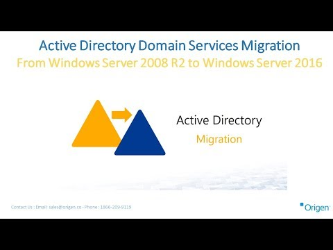 Active Directory Domain Services Migration From Windows Server 2008 R2 to Windows Server 2016