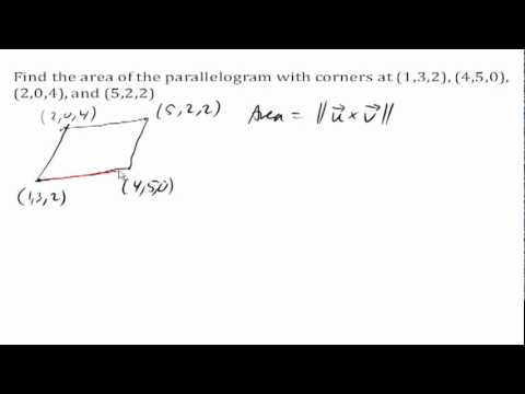 Area of a parallelogram in 3D space