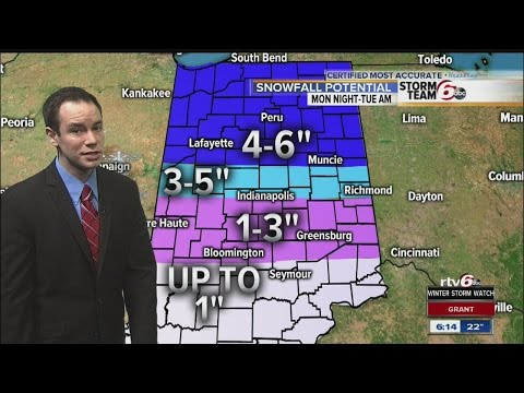 ALERT: Winter Storm Watch north of Indy