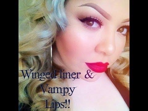 Eyeliner and Vampy Lips