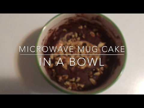 PB & Cocoa Powder Chocolate Mug Cake in the Microwave•Good for Diabetics•GF, Egg-Free  🇨🇦