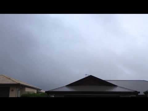 Eye of cyclone Marcia Rockhampton Australia