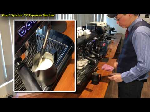 Dual Auto-Frothing for 2x Latte (Using the Royal Synchro T2 Coffee Machine)