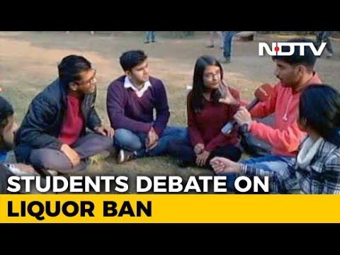 Students Debate On Liquor Ban