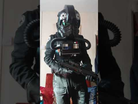 Test fitting my TIE pilot costume and testing aker amp