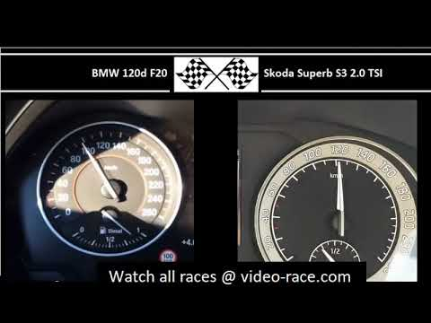 BMW 120d F20 VS. Skoda Superb S3 2.0 TSI - Acceleration 0-100km/h