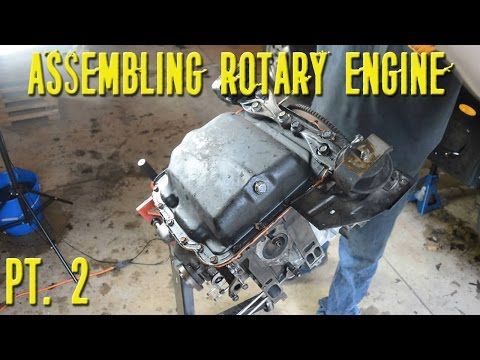 Assembling a Twin Turbo 13B Rotary Engine - Part 2