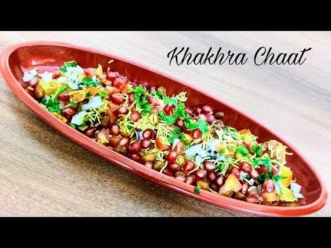 Chatpata Khakhra Chaat or Easy Khakhra Canapes