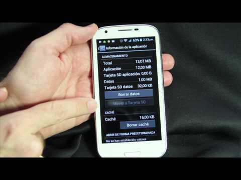 Cómo liberar espacio de la memoria de tu teléfono android moviendo apps