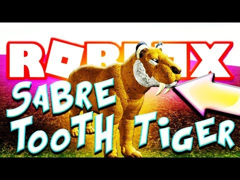 ROBLOX SABER TOOTH TIGER - CENOZOIC SURVIVAL (Smilodon Lets Play Wild Animals Gaming Video)