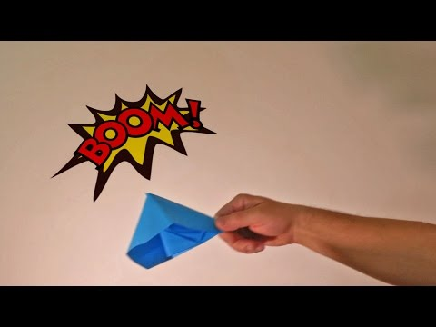 How to make origami paper popper BOMB