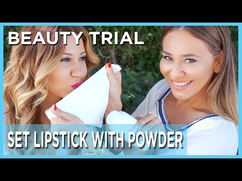 Lipstick Setting Theory: Setting Lipstick With Powder And Tissue