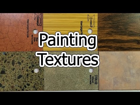 Painting Textures - Wood, Granite, Marble, Crackle