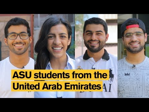Arizona State University (ASU) students from the United Arab Emirates