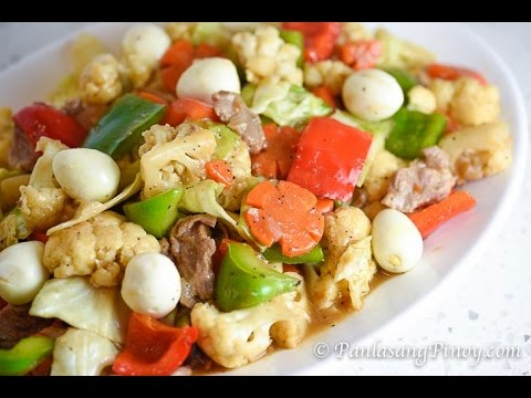 Chopsuey with Quail Eggs