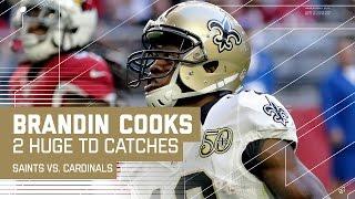 Drew Brees Hits Brandin Cooks for 65-Yard TD, then 45-Yard TD! | NFL Week 15 Highlights