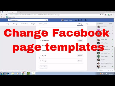 How to change or edit Facebook page templates with default tabs and buttons FB Tips 108