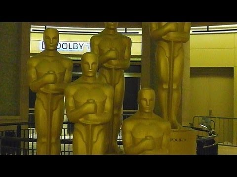 Preparations  for the Oscars ceremony ★ Academy Awards 2013 in Hollywood, California