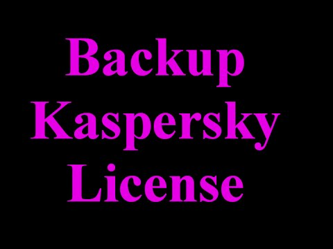 How to Backup and Restore Your Kaspersky License?