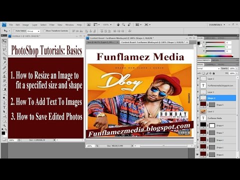 How to Resize an Image, Unlock Photo Background and save Edited Images Using Photoshop Cs4