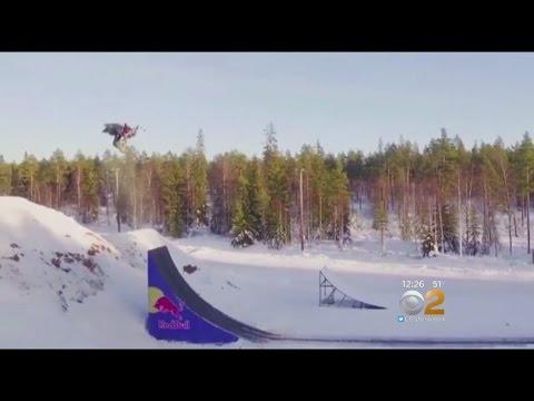 Double Backflip... On A Snowmobile!