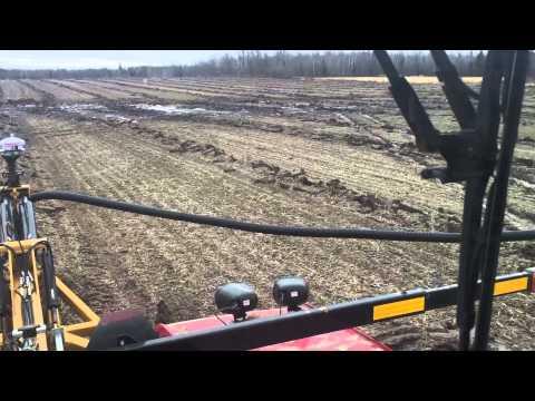 Soil max tile plow in frost