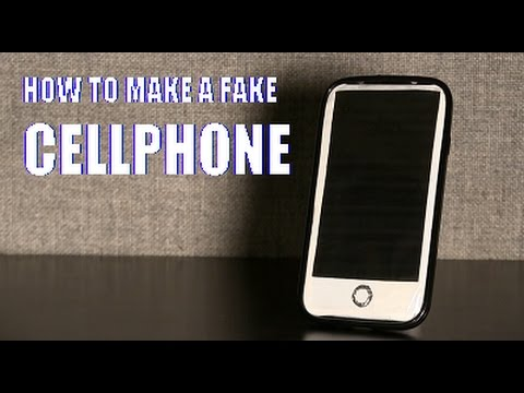 How to Make a Fake Cellphone