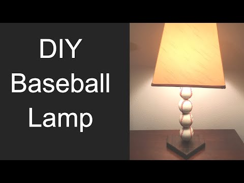 How to Make a Baseball Lamp (Step-By-Step)