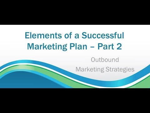 Module 1.3 | Elements of a Successful Marketing Plan - Part 2