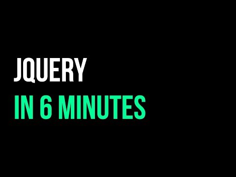 jQuery in 6 minutes | How to Use a  JavaScript Library | Code in 5