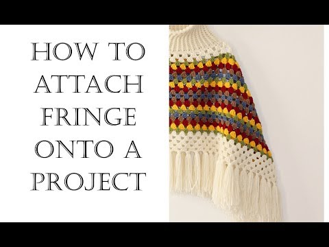 How To Attach Fringe   Easy Tutorial