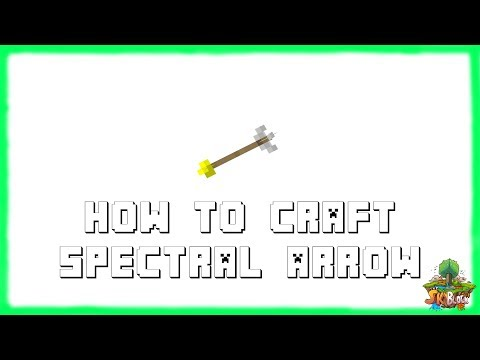 Minecraft 1.12.2: How to Craft Spectral Arrows! | Recipe Tutorial for Minecraft 1.12.2 | 2018
