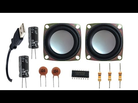 How to Make a USB Speaker at home (ic 8403)