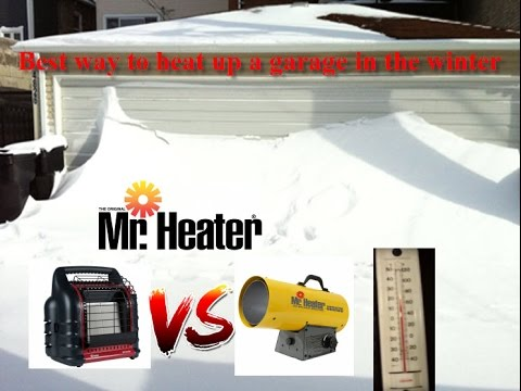 Heat up 2 car garage in the winter | Propane MR Heater contractor series VS Big Buddy review