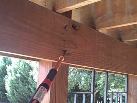 Dangerous Incorrect Built Patio Deck Found by Home Inspector Nashville.wmv