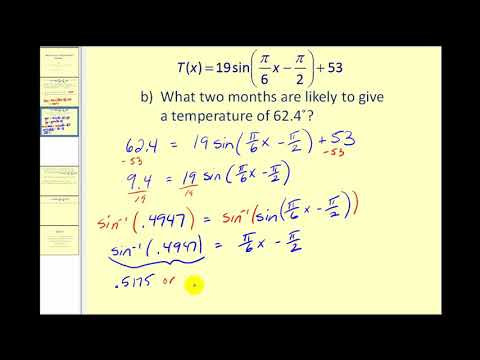 Solving Applications Problems Using Trigonometric Equations